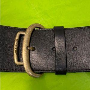 """Cole Haan Contour Low-riding Leather Belt- 2⅛"""" L"""